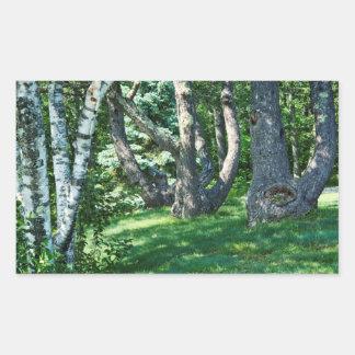 Hillside Trees Rectangular Sticker