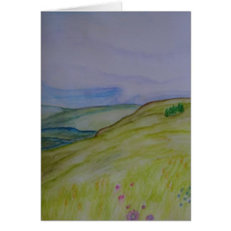 Hilltop Meadow View Card