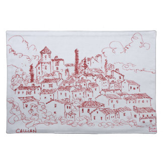 Hilltop Town of Callian | South of France Placemat