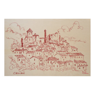 Hilltop Town of Callian | South of France Wood Wall Art