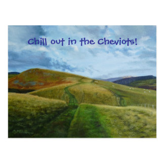 Hillwalking Northumberland Cheviots Postcard