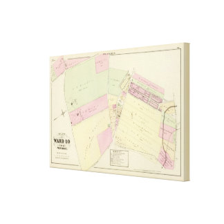 Hillwood Atlas Map Canvas Print