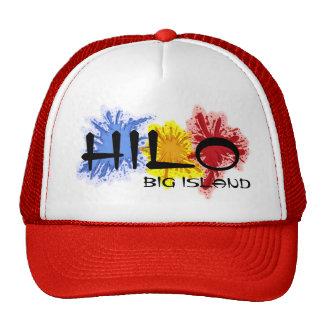 Hilo paint splatter hawaii big island red hat