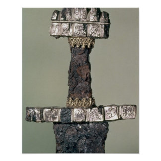 Hilt of a Viking sword found at Hedeby, Denmark, 9 Poster
