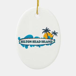 Hilton Head Island. Ceramic Oval Decoration
