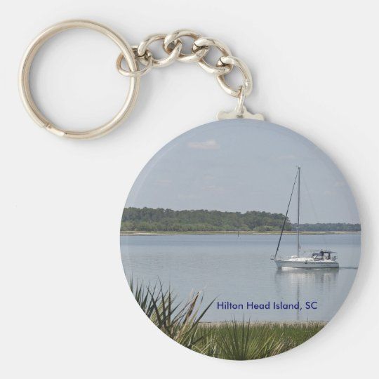 Hilton Head Series Basic Round Button Key Ring