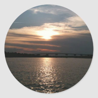 Hilton Head Sunset Round Sticker
