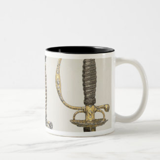 Hilts of three French swords: one of steel Two-Tone Mug