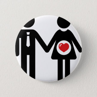 Him and Her Pregnant 6 Cm Round Badge