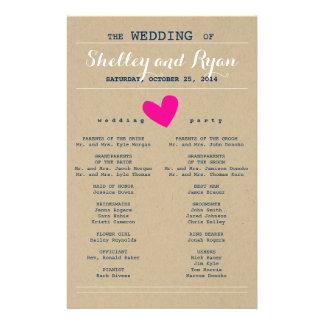 Him and Her Wedding Program 14 Cm X 21.5 Cm Flyer