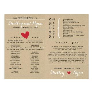 Him and Her Wedding Program FAN 21.5 Cm X 28 Cm Flyer