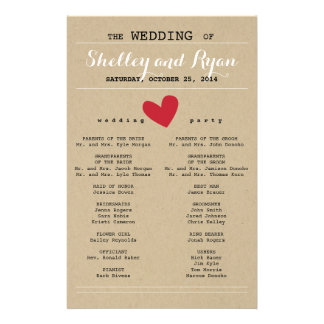 Him and Her Wedding Program Flyer
