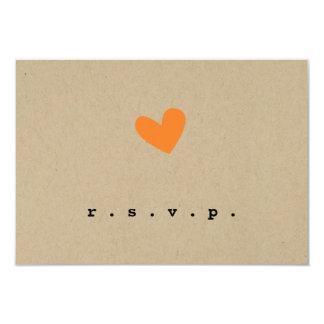 Him and Her Wedding RSVP 9 Cm X 13 Cm Invitation Card