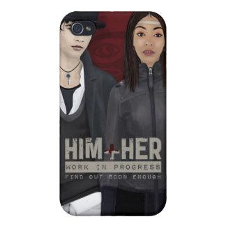 HIM + HER iPhone 4 CASE