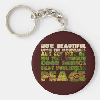 Him that Publishes Peace & Battle Scene Basic Round Button Key Ring
