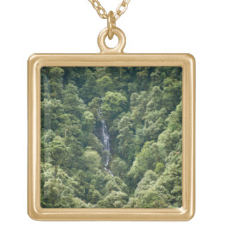 Himalaya forest in the Mangdue valley, Bhutan Gold Plated Necklace