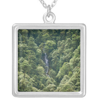 Himalaya forest in the Mangdue valley, Bhutan Silver Plated Necklace