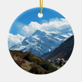 Himalaya Mount Everest India Nepal Travel Summer Christmas Ornament