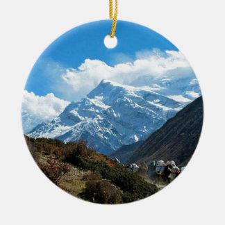 Himalaya Mount Everest India Nepal Travel Summer Round Ceramic Decoration