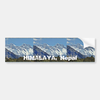HIMALAYA - One of 1000 views from NEPAL Bumper Sticker
