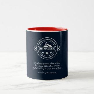 Himalaya Trekking. Climbing Mountains. Adventure Two-Tone Coffee Mug