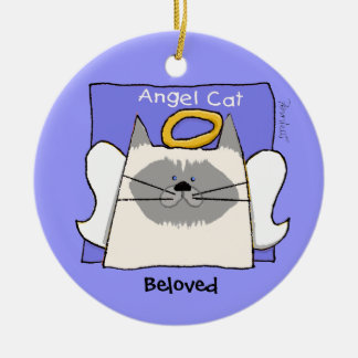 Himalayan Cat Angel Personalize Christmas Ornament