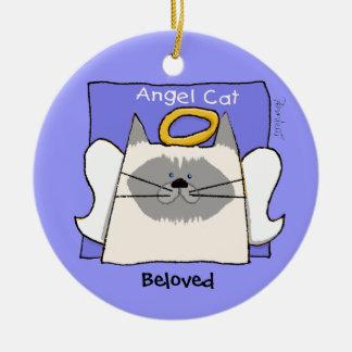 Himalayan Cat Angel Personalize Round Ceramic Decoration