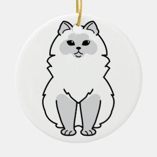Himalayan Cat Cartoon Christmas Ornament