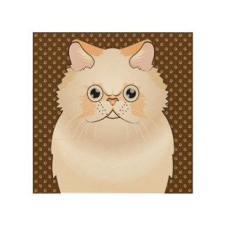 Himalayan Cat Cartoon (Cream) Wood Print