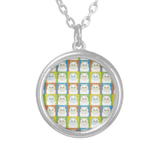 Himalayan Pop-Art Cream Personalized Necklace