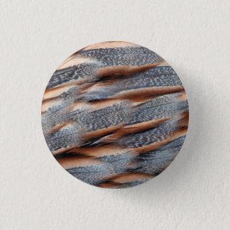 Himalayan Snowcock Feather Design 3 Cm Round Badge