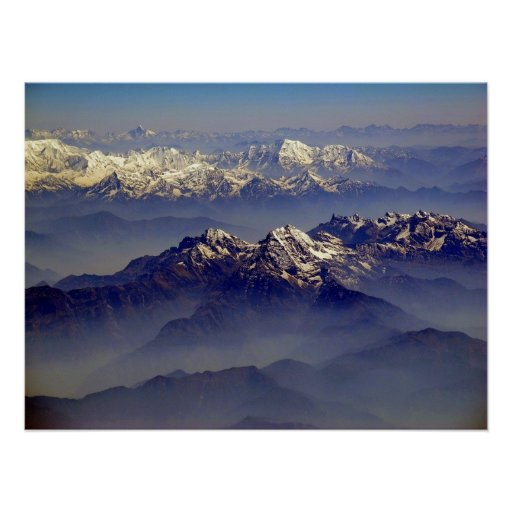 Himalayas Landscape Poster