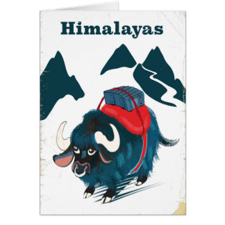 Himalayas Vintage travel poster Card
