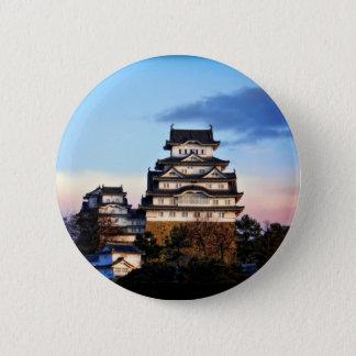 Himeji Castle at Sunrise 6 Cm Round Badge