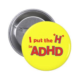 HinADHD 6 Cm Round Badge