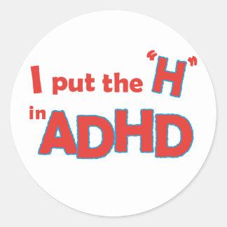 HinADHD Round Sticker