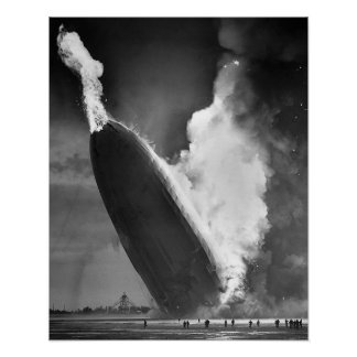 "Hindenburg Disaster poster 16""x20""."