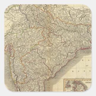 Hindoostan, Ceylon Square Sticker