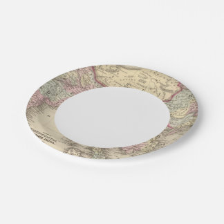 Hindoostan, Farther India, China, Tibet 2 7 Inch Paper Plate