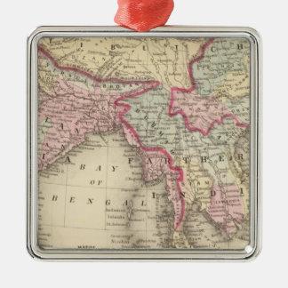 Hindoostan, Farther India, China, Tibet 2 Christmas Ornament