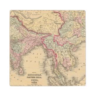 Hindoostan, Farther India, China, Tibet 2 Wood Coaster