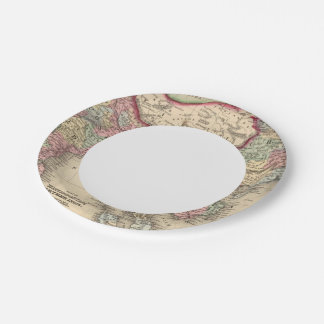 Hindoostan, Farther India, China, Tibet 7 Inch Paper Plate