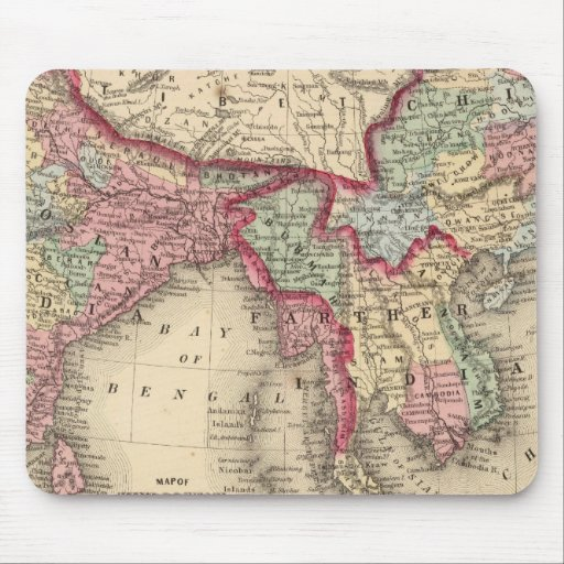 Hindoostan, Farther India, China, Tibet Mouse Pads