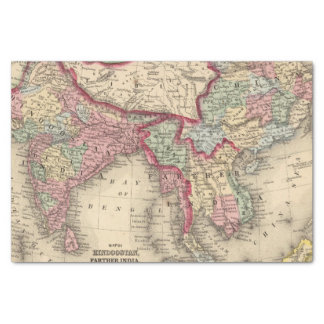 Hindoostan, Farther India, China, Tibet Tissue Paper