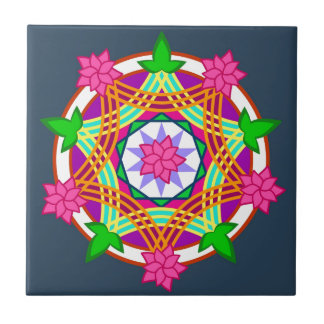 Hindu Art Small Square Tile