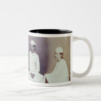 Hindu Brahmins in Delhi, 19th century (sepia photo Two-Tone Coffee Mug