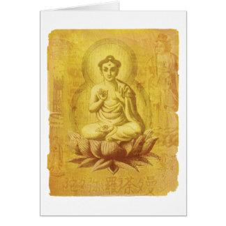 Hindu Buddha Greeting Card