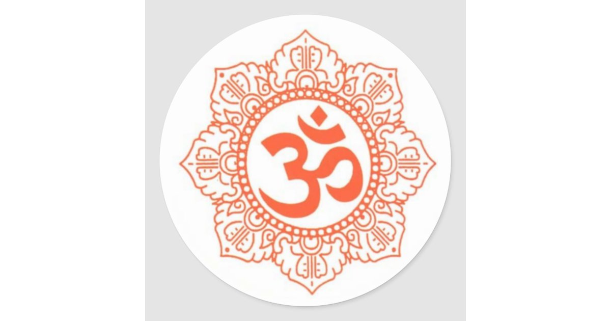 Hindu Buddha Symbols Omohm Classic Round Sticker Zazzle