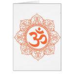HINDU - BUDDHA SYMBOLS OM,OHM GREETING CARD