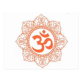 HINDU - BUDDHA SYMBOLS OM OHM POST CARD